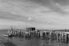 Puerto pesquero antiguo de Carrasqueira Foto de archivo libre de regalías