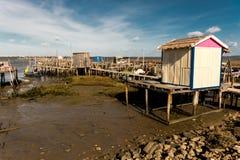 Puerto pesquero antiguo de Carrasqueira Foto de archivo