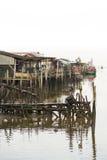 Puerto pesquero chino Fotografía de archivo