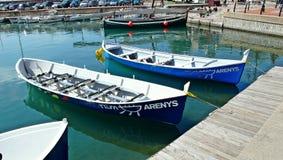 Puerto pesquero de Arenys de marcha Imágenes de archivo libres de regalías