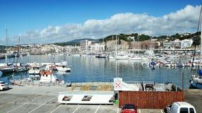 Puerto pesquero de Arenys de marcha Foto de archivo
