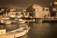 Puerto pesquero de Batroun, mi ciudad Imagen de archivo