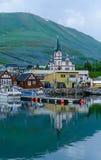 Puerto pesquero de Husavik Imagenes de archivo