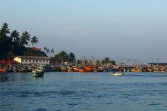 Puerto pesquero de Matara en Sri Lanka imagen de archivo