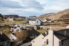 Puerto pesquero en Escocia del noroeste Foto de archivo
