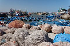 Puerto pesquero en Essaouira, Marruecos 1 imagen de archivo libre de regalías