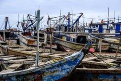 Puerto pesquero ocupado de Sekondi Foto de archivo libre de regalías