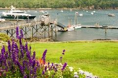 Puerto pintoresco de Nueva Inglaterra Fotografía de archivo