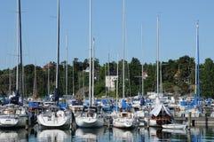 Puerto pintoresco de Nynashamn Fotos de archivo libres de regalías