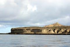 Puerto Piramides Argentine Photographie stock