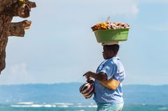 Woman and fruits Royalty Free Stock Images