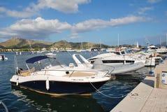 Puerto Pollensa港口,马略卡 免版税库存照片