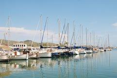 Puerto Pollensa marina, Majorca obraz royalty free