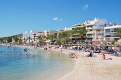 Puerto Pollensa plaża, Majorca fotografia royalty free