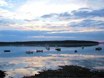 Puerto principal de la costa Foto de archivo libre de regalías