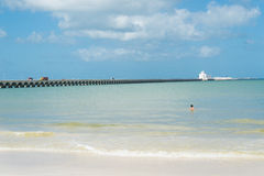 Puerto Progreso, Yucatan Photos libres de droits