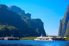 Puerto, puerto marítimo, bahía de Phang Nga, Tailandia foto de archivo libre de regalías
