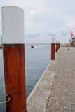 Puerto que entra del barco Fotografía de archivo