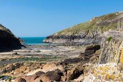 Puerto Quin Cornwall England foto de archivo