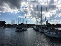 Puerto reservado hermoso en Dinamarca fotografía de archivo