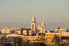 Puerto Ricaanse Kerk in Wam Avondlicht royalty-vrije stock afbeeldingen