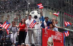 2018 Puerto Rican Day Parade. Hundreds of thousands came out to celebrate the National Puerto Rican Day Parade 2018 in Manhattan, NY. The Impact of Hurricane Stock Photography