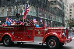 2018 Puerto Rican Day Parade. Hundreds of thousands came out to celebrate the National Puerto Rican Day Parade 2018 in Manhattan, NY. The Impact of Hurricane Stock Photos