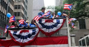 2018 Puerto Rican Day Parade. Hundreds of thousands came out to celebrate the National Puerto Rican Day Parade 2018 in Manhattan, NY. The Impact of Hurricane Stock Photo