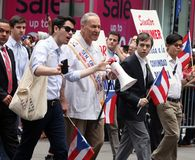 Chuck Schumer At The Puerto Rican Day Parade. Hundreds of thousands came out to celebrate the National Puerto Rican Day Parade 2018 in Manhattan, NY. The Impact Stock Photo