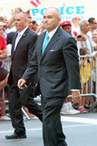 Puerto Rican Day Parade. Police commissioner Ray Kelly marching on 5th avenue at the National Puerto Rican day parade in NYC stock photos