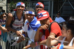 Puerto Rican Day Parade 2015. SEUI 1199 Healthcare Public Relations For Sponsorship Royalty Free Stock Photography