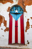 Puerto Rican door Stock Photography