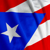 Puerto Rican Flag Closeup Royalty Free Stock Photography