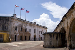 Puerto Rican fortress Castillo San Cristobal Royalty Free Stock Photography