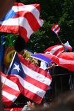Puerto Rican Street Parade. Crowd with flags, Puerto Rican Street Parade, 5th Avenue, New York City, USA Stock Images