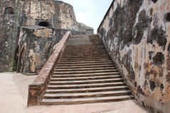 Puerto Rico 9. Old Historic Fort In Old San Juan.  Located In Puerto Rico Royalty Free Stock Image
