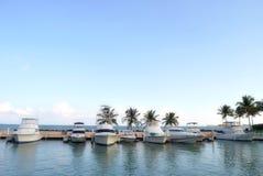 Puerto Rico Bay at El Conquistadore 2. The boats docked at El Conquistadore resort in Puerto Rico Stock Photography
