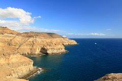 Puerto Rico beach and amadores in Gran Canaria stock images