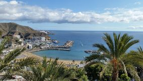 Puerto Rico Beach, mamie Canaria, Espagne images stock
