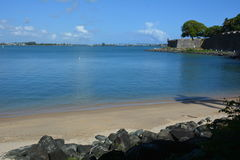 Puerto Rico. Beach in the Old San Juan Royalty Free Stock Photography