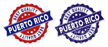Puerto Rico Best Quality Stamp con stile di emergenza Immagine Stock