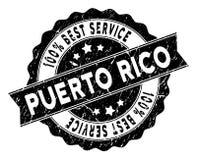Puerto Rico Best Service Stamp con effetto della polvere Fotografie Stock