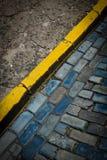 Puerto rico blue cobblestones Stock Photo