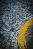 Puerto rico blue cobblestones Royalty Free Stock Images