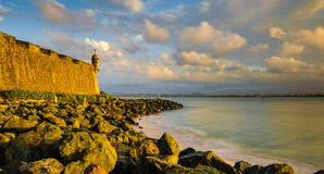 Puerto Rico. Coast by old San Juan royalty free stock images