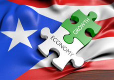 Puerto Rico economy and financial market growth concept. 3D rendered concept of Puerto Rico`s economy and financial market growth Stock Images