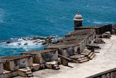 Puerto Rico - EL Morro do forte Fotografia de Stock