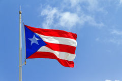 Puerto Rico flag Royalty Free Stock Photo