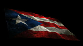 Puerto Rico flag stock footage