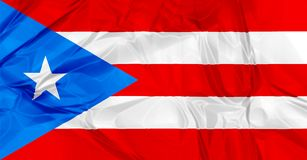 Puerto Rico flag Stock Photography